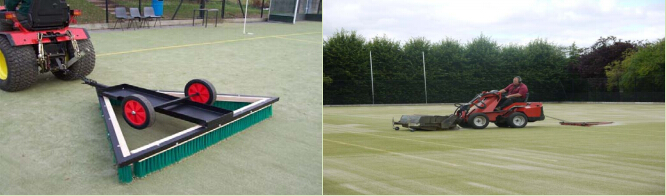 Turf triangular brush