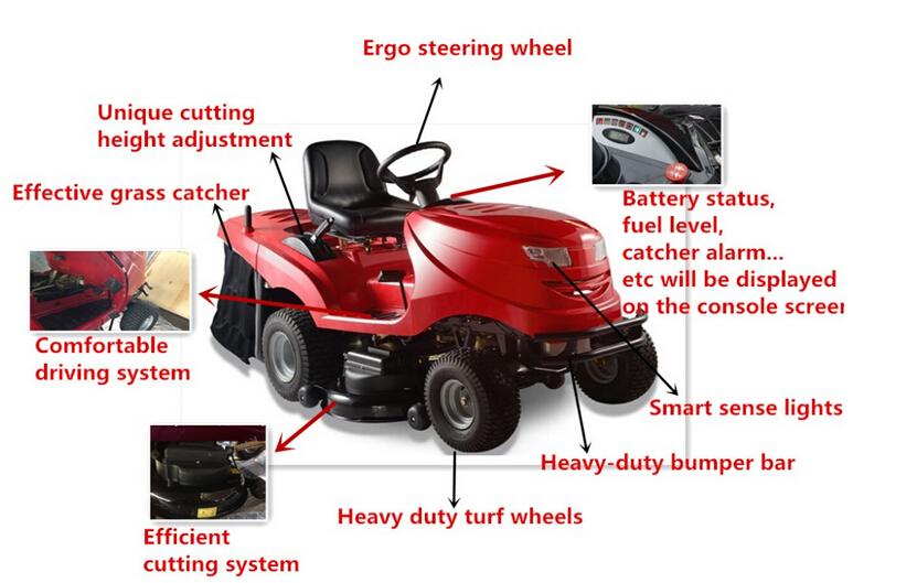 zero turn ride on lawn tractor